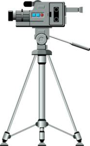 Image of a video camera on tripod